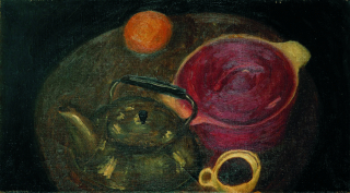 Still Life With The Red Iron Pan