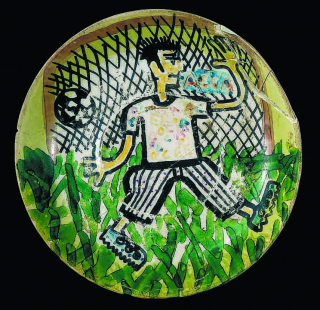 Self-portrait as a soccer player